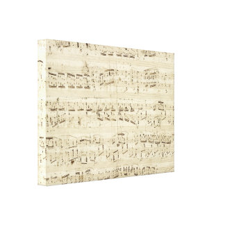 Old Music Notes - Chopin Music Sheet Stretched Canvas Print