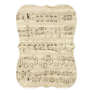 Old Music Notes - Chopin Music Sheet Card