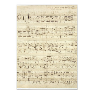 Old Music Notes - Chopin Music Sheet Card at Zazzle