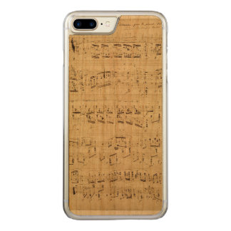 Old Music Notes - Chopin Music Sheet Carved iPhone 7 Plus Case