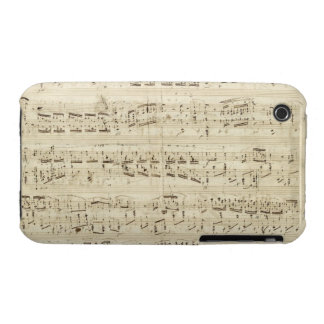 Old Music Notes - Chopin Music Sheet iPhone 3 Case-Mate Cases