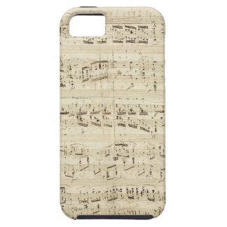 Old Music Notes - Chopin Music Sheet iPhone 5 Case
