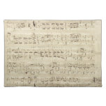 Old Music Notes - Chopin Music Sheet Cloth Place Mat