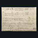 """Old Music Notes - Chopin Music Sheet Cloth Placemat<br><div class=""""desc"""">Old music sheet of Frederic Chopin. Original musical notation of this famous classical composer.</div>"""