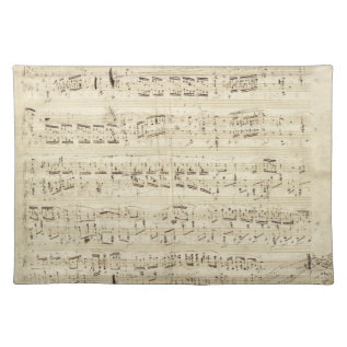 Old Music Notes - Chopin Music Sheet Cloth Placemat at Zazzle