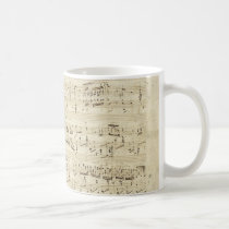 Old Music Notes - Chopin Music Sheet Coffee Mug