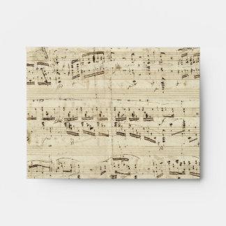 Old Music Notes - Chopin Music Sheet Envelopes