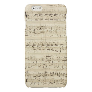 Old Music Notes - Chopin Music Sheet Glossy iPhone 6 Case