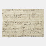 Old Music Notes - Chopin Music Sheet Hand Towel