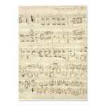 Old Music Notes - Chopin Music Sheet 5x7 Paper Invitation Card