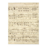 Old Music Notes - Chopin Music Sheet Invite