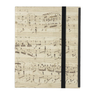 Old Music Notes - Chopin Music Sheet iPad Cases