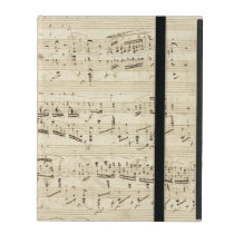 Old Music Notes - Chopin Music Sheet iPad Cover
