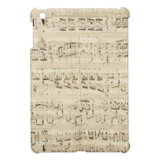 Old Music Notes - Chopin Music Sheet iPad Mini Cover