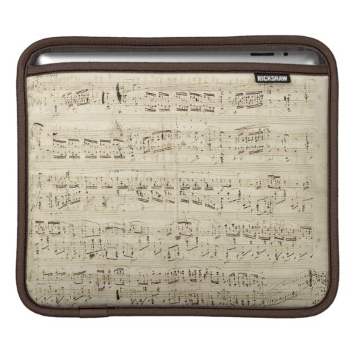 Old Music Notes - Chopin Music Sheet Sleeves For iPads