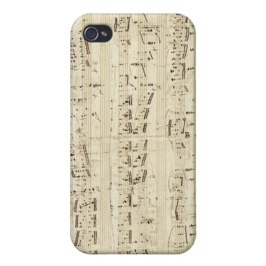 Old Music Notes - Chopin Music Sheet iPhone 4/4S Case