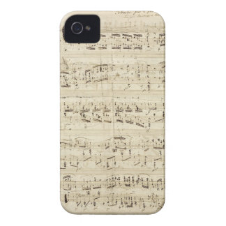 Old Music Notes - Chopin Music Sheet iPhone 4 Case