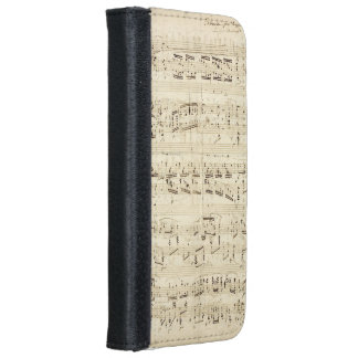 Old Music Notes - Chopin Music Sheet iPhone 6 Wallet Case