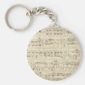 Old Music Notes - Chopin Music Sheet Keychain