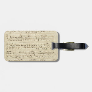Old Music Notes - Chopin Music Sheet Tags For Bags