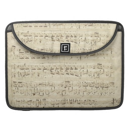 Old Music Notes - Chopin Music Sheet MacBook Pro Sleeve