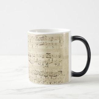 Old Music Notes - Chopin Music Sheet Magic Mug