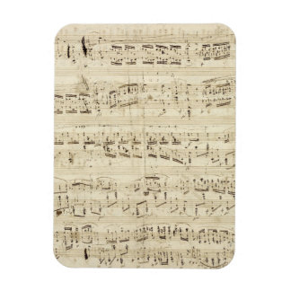 Old Music Notes - Chopin Music Sheet Magnet