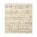 Old Music Notes - Chopin Music Sheet Memo Notepads