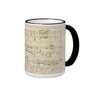 Old Music Notes - Chopin Music Sheet Ringer Coffee Mug