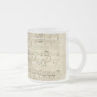 Old Music Notes - Chopin Music Sheet Mug