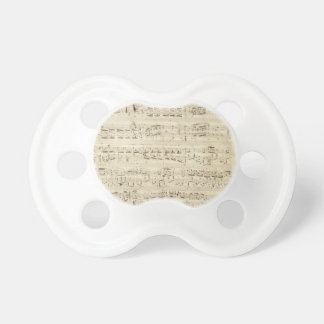 Old Music Notes - Chopin Music Sheet Pacifier