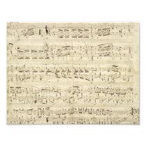 Old Music Notes - Chopin Music Sheet Photo Print