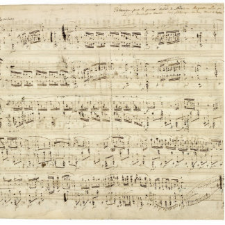 Old Music Notes - Chopin Music Sheet Standing Photo Sculpture
