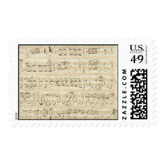 Old Music Notes - Chopin Music Sheet Postage
