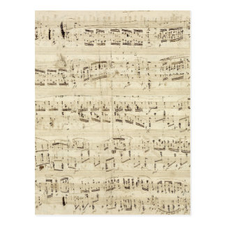 Old Music Notes - Chopin Music Sheet Post Cards