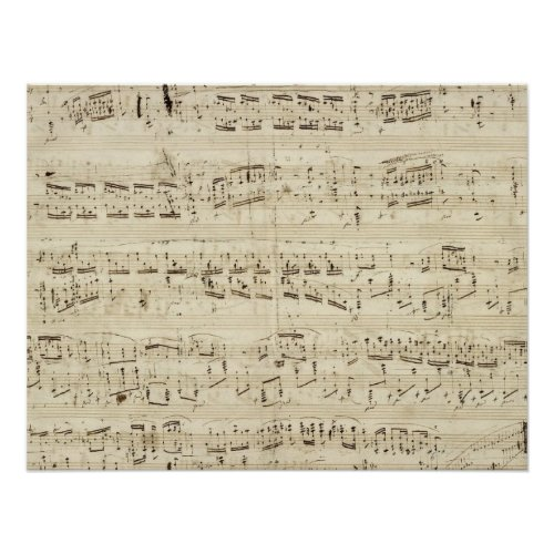 Old Music Notes - Chopin Music Sheet