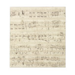 Old Music Notes - Chopin Music Sheet Scratch Pads