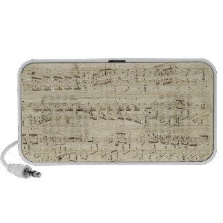 Old Music Notes - Chopin Music Sheet Mini Speaker