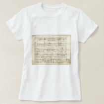 Old Music Notes - Chopin Music Sheet T-Shirt