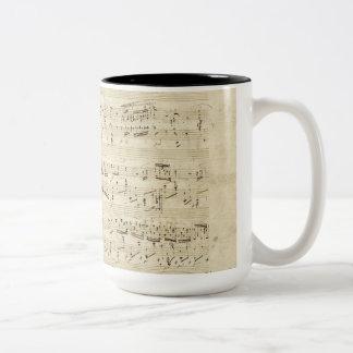 Old Music Notes - Chopin Music Sheet Two-Tone Coffee Mug
