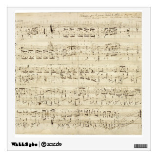 Old Music Notes - Chopin Music Sheet Wall Sticker