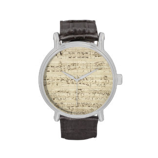 Old Music Notes - Chopin Music Sheet Wristwatches