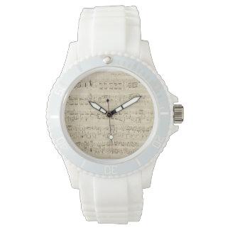 Old Music Notes - Chopin Music Sheet Wrist Watch