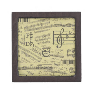 Old Music Paper 2 Jewelry Box