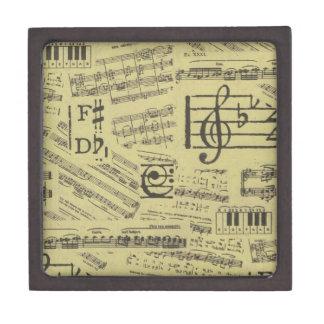 Old Music Paper 2 Keepsake Box
