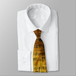 Old Music Sheet Tie