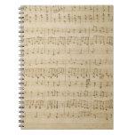 Old Music Sheet Vintage Look Journal