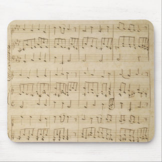 Old Music Sheet Vintage Look Mouse Pad