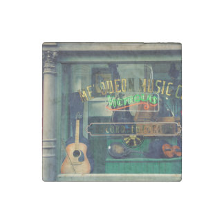 Old Music Store Stone Magnet