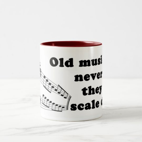 Old musicians never die Two-Tone coffee mug